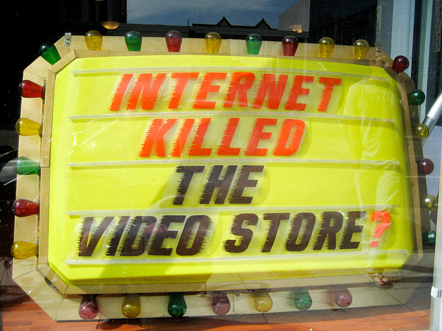 Internet killed the videostore?